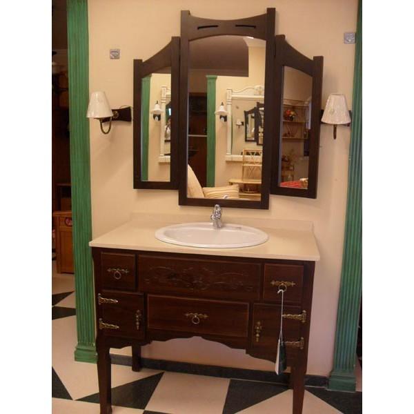 conjunto ba o espejo triptico