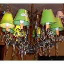 Lámpara Hojas Negras